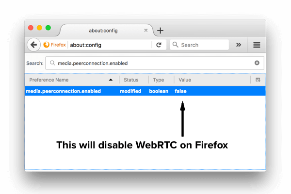 How to disable WebRTC in Firefox on desktop