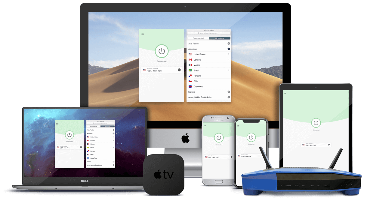 ExpressVPN on computers, smartphones, tablets, routers, and streaming devices.