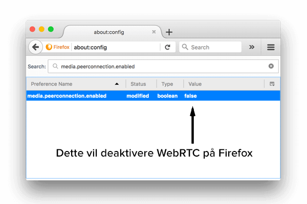 Sådan deaktiveres WebRTC i Firefox på skrivebordet