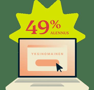 ExpressVPN 49 prosentin alennuksella.