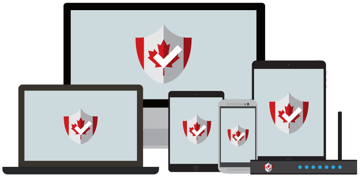Devices connected to VPN servers in Canada.