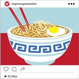 Asian noodles Instagram.