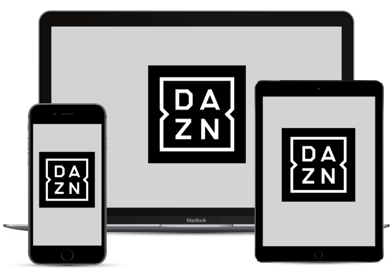 Watch DAZN on computer, tablet, or smartphone.
