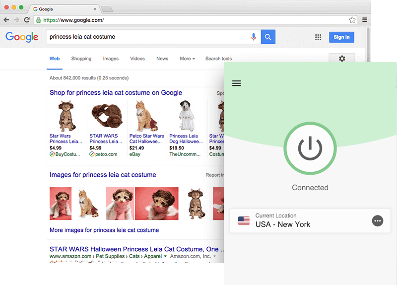 ปลดบล็อก Google ด้วยแอป ExpressVPN