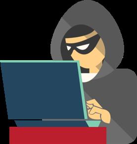 En hacker jobber på en bærbar PC