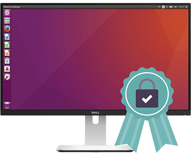 Desktop Linux machine with best VPN ribbon.
