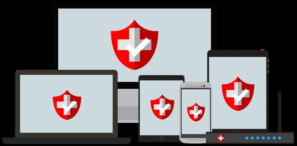 VPN para Suíça: VPNs em vários dispositivos.
