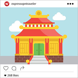 Instagram travel picture: Get a VPN to unblock Instagram no matter where in the world you go.