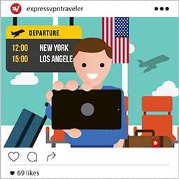Instagram airport selfie.