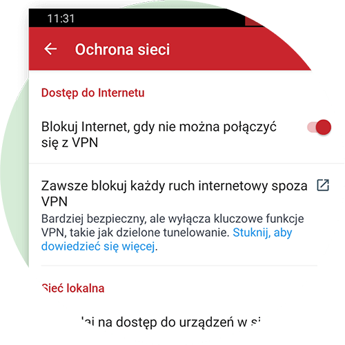 Network Lock dla Androida.