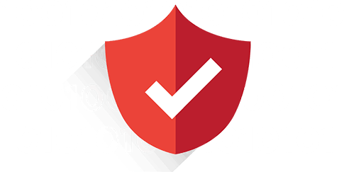 Security shield with checkmark: Safeguard your data with a VPN.