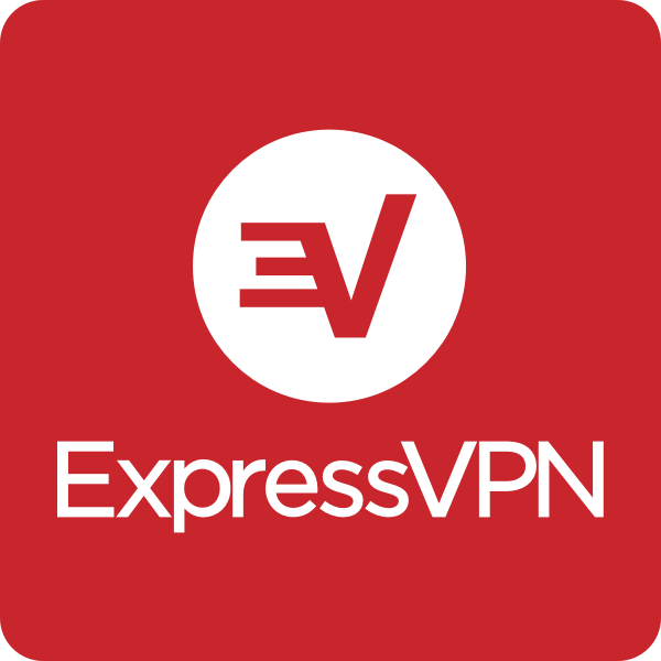 Expressvpn white on red round stacked rgb