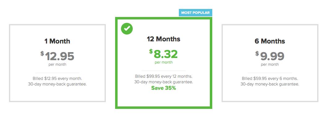 Price plans