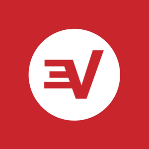 Logo expressvpn icon white on red rgb