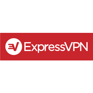 Logo expressvpn white on red horizontal rgb