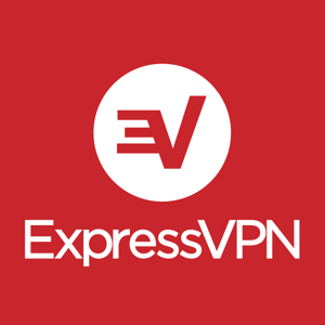 Logo expressvpn white on red square stacked rgb