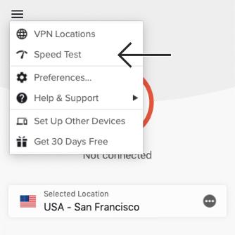 Använd ExpressVPN:s hastighetstest för att hitta den snabbaste VPN-serverpositionen för streaming på Amazon Prime Video.