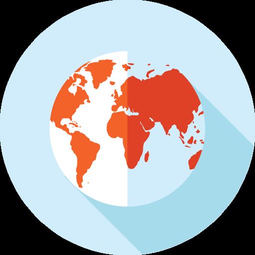 Gmail on estetty joissain maissa: Tyylitelty kuva maapallosta.