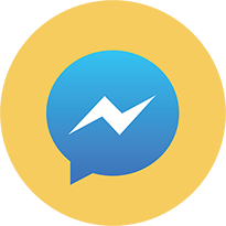 Логотип Facebook Messenger в круге.