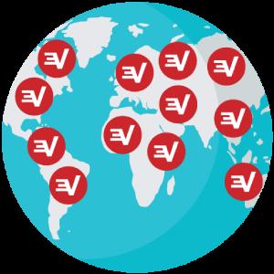 Trin 3: Forbind til en VPN Serverplacering