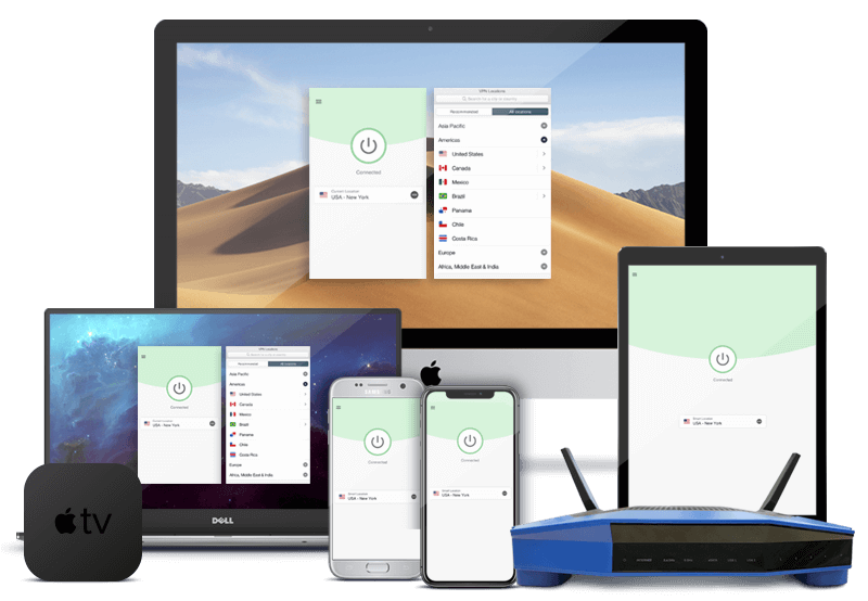 ¡ExpressVPN tiene aplicaciones para Mac, Windows, iOS, Android, Apple TV, routers, tablets y mucho más!