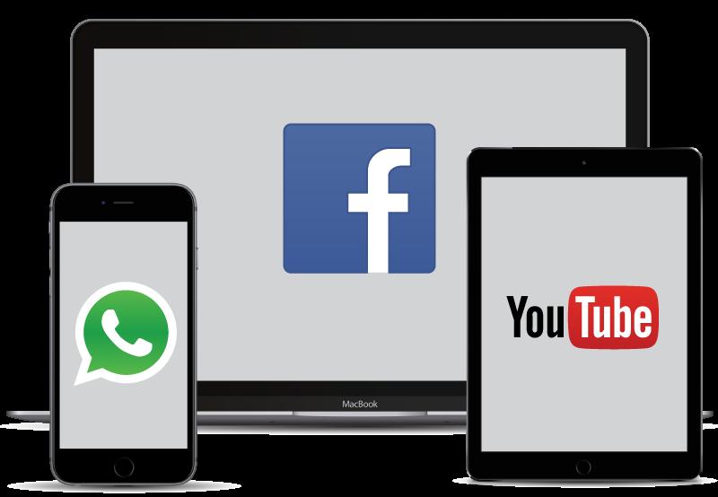 Services en ligne populaires sur divers appareils.