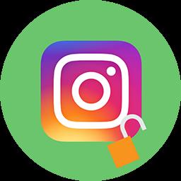 Instagram-loggan med ett öppet hänglås.