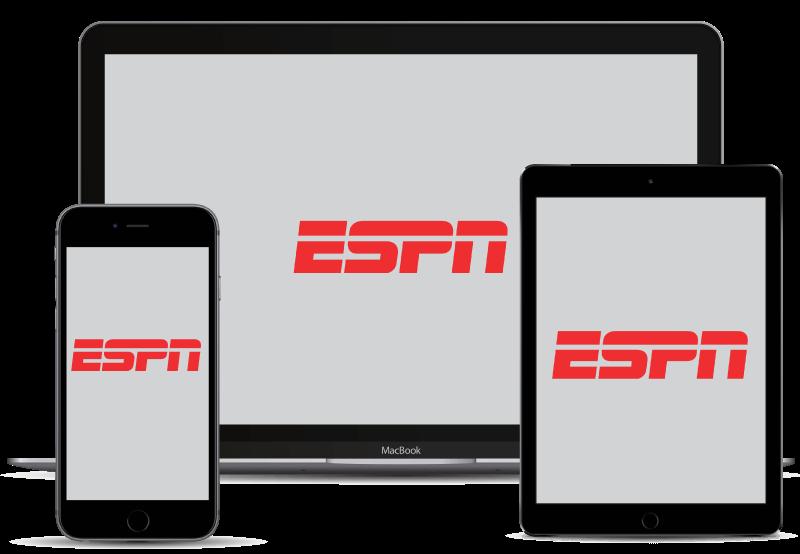 ESPN en una gama de dispositivos.