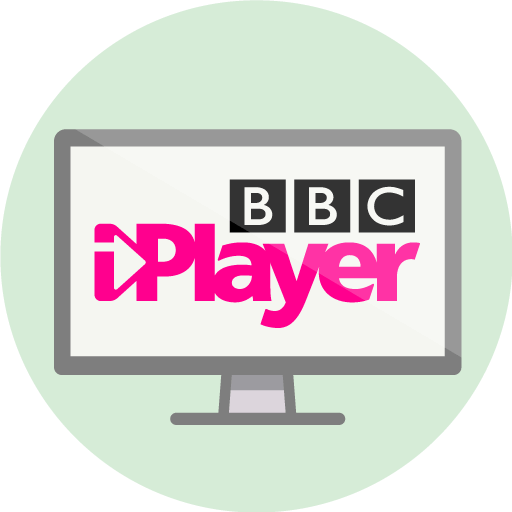 Logo do BBC iPlayer um monitor de computador.
