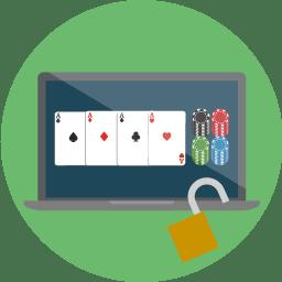 Ett pokerrum online.