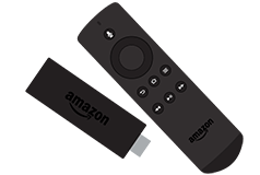 Amazon Fire TV Stick och fjärrkontroll