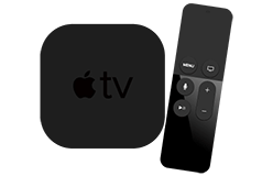 Apple TV y control remoto.