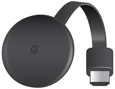 Chromecast streaming player device.