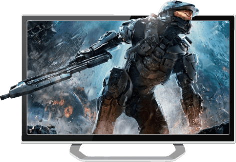 Videogame soldier bursting from a screen: Amplify your gaming and streaming with a VPN for consoles.