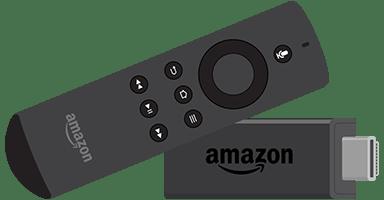 Amazon Firestick and remote control.