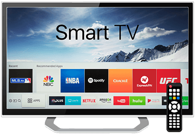 Smart TV startskärm.