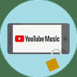 Logo YouTube Music sullo schermo. Sblocca YouTube Music con ExpressVPN