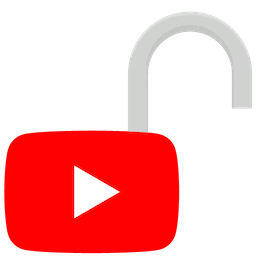 Logo YouTube na odblokowanej kłódce. Odblokuj YouTube z ExpressVPN