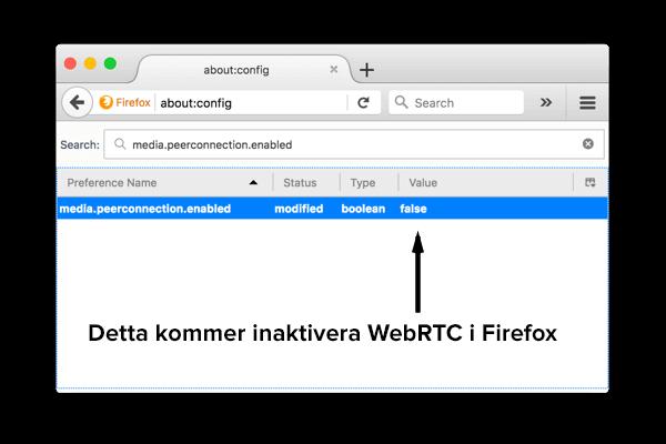 Hur man avaktiverar WebRTC i Firefox