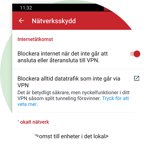 Network Lock för Android.