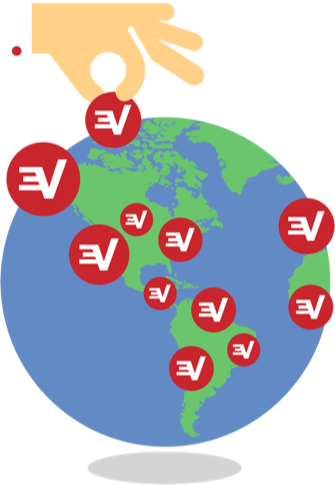 Hand picking from among ExpressVPN's many server locations around the world.