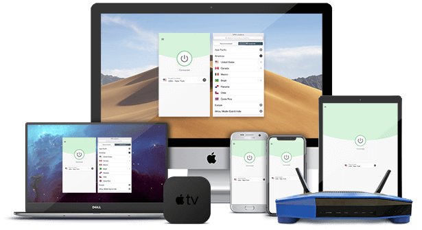 ExpressVPN op computers, tables, smartphones, routers en streaming apparaten.