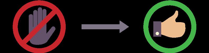 Znak stopu zmienia się na kciuk do góry