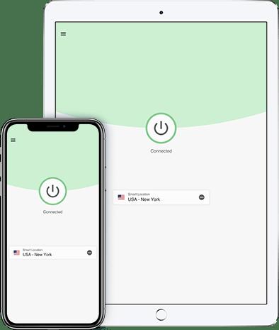 Die ExpressVPN-App für iOS