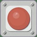 赤い非常ボタン。