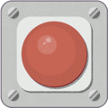 A red emergency button.