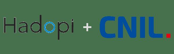 Logo Hadopi e CNIL.