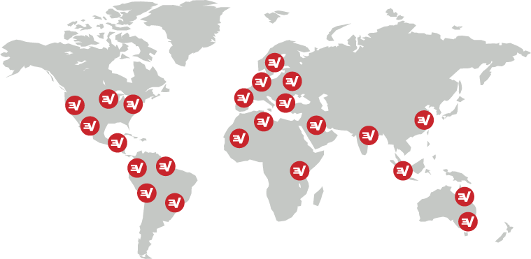 World map with ExpressVPN server locations.