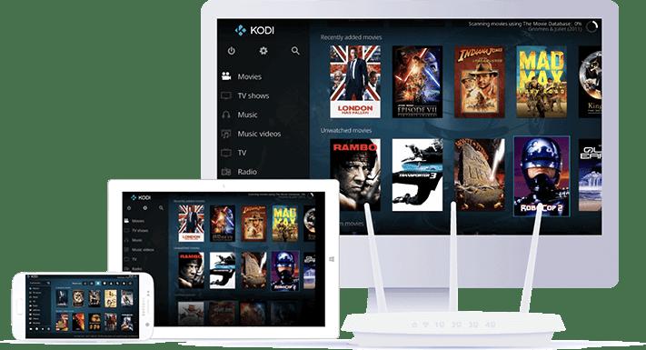 Kodi on screens