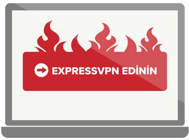 Get ExpressVPN button in flames.